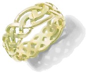 9ct Gold 7mm Celtic Band