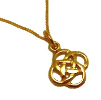 9ct Gold Celtic Shield Pendant