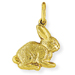 9ct Gold Rabbit Pendant